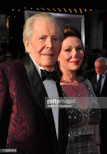 Actor Peter O'Toole and daughter Kate Phillips O'Toole arrive at TCM Classic Film Festival Opening Night Gala and World Premiere of An American In...