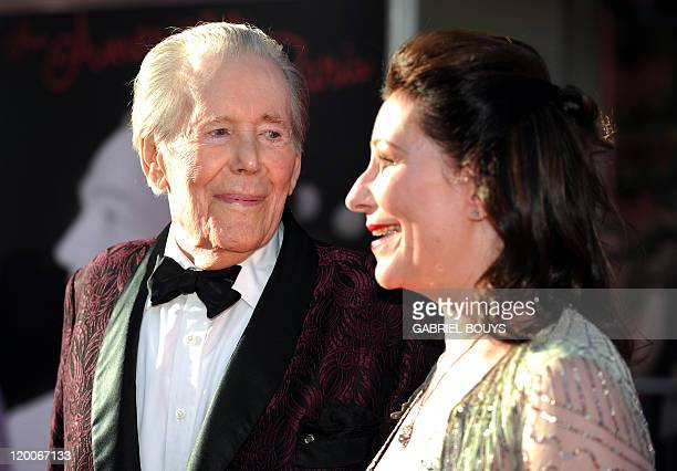 Actor Peter O'Toole arrives with his daughter Kate O'Toole at the TCM Classic film Festival opening night and World premiere of the newly restored An...