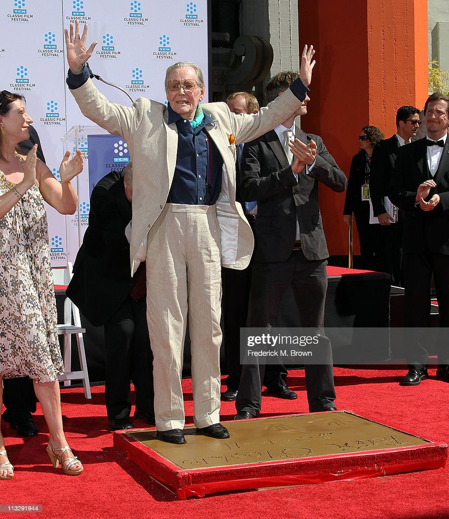 TCM Classic Film Festival Honors Peter O'Toole At A Hand And Footprints Ceremony At Grauman's Chinese Theatre