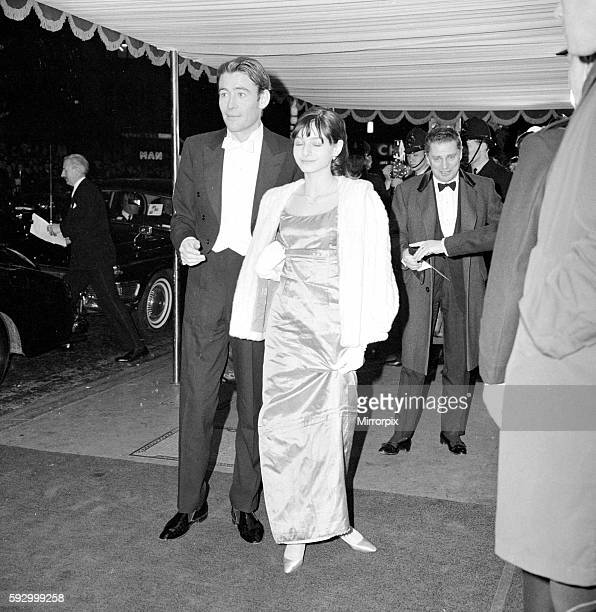 Actor Peter O'Toole with Miss Buck at a Film Premiere February 1965 1960s ©Mirrorpix