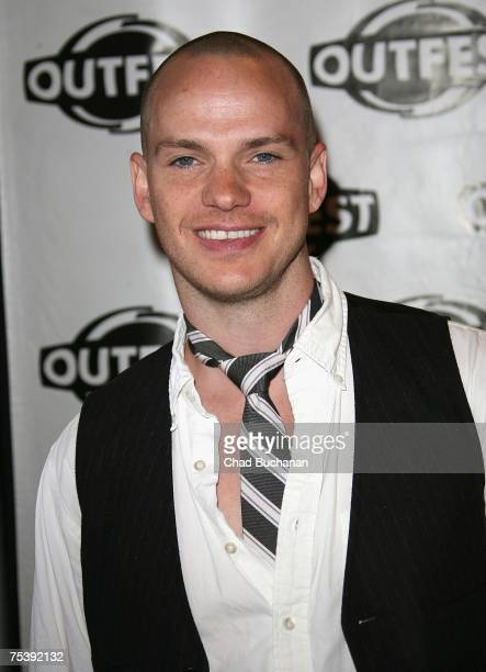 Actor Peter Paige attends the opening night gala of OUTFEST 2007 at the Orpheum Theater on July 12 2007 in Los Angeles California