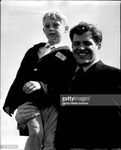 Actor Peter Palmer with Ian Willis 9 of . March 5, 1961. .