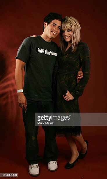 Actor Peter Pasco and girlfriend Brittany Morgan of the film Broken poses in the portrait studio at the AFI FEST 2006 presented by Audi at the...