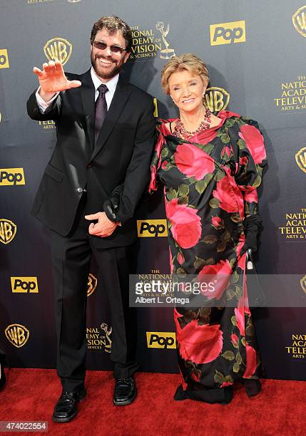 Actor Peter Reckell and actress Peggy McKay arrive for The 42nd Annual Daytime Emmy Awards held at Warner Bros Studios on April 26 2015 in Burbank...