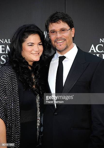 Actor Peter Reckell and wife Actress Kelly Moneymaker attend the 36th Annual Daytime Emmy Awards at The Orpheum Theatre on August 30 2009 in Los...