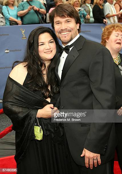 Actor Peter Reckell and wife Kelly Moneymaker arrives at the 33rd Annual Daytime Emmy Awards held at the Kodak Theatre on April 28 2006 in Hollywood...