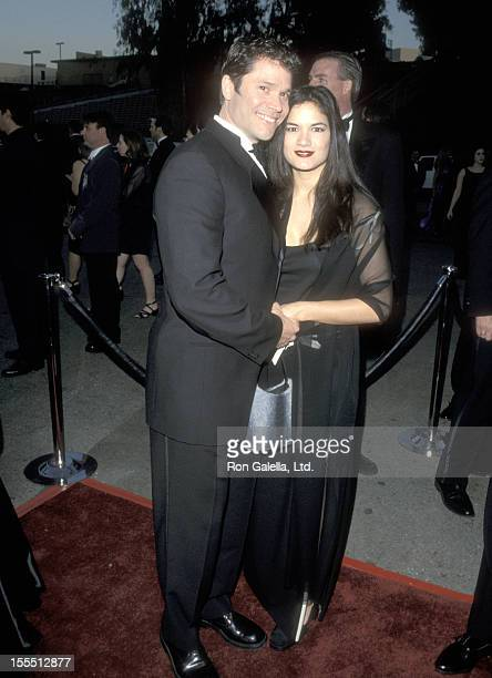 Actor Peter Reckell and wife Kelly Moneymaker attend the 15th Annual Soap Opera Digest Awards on February 26 1999 at Universal Amphitheatre in...