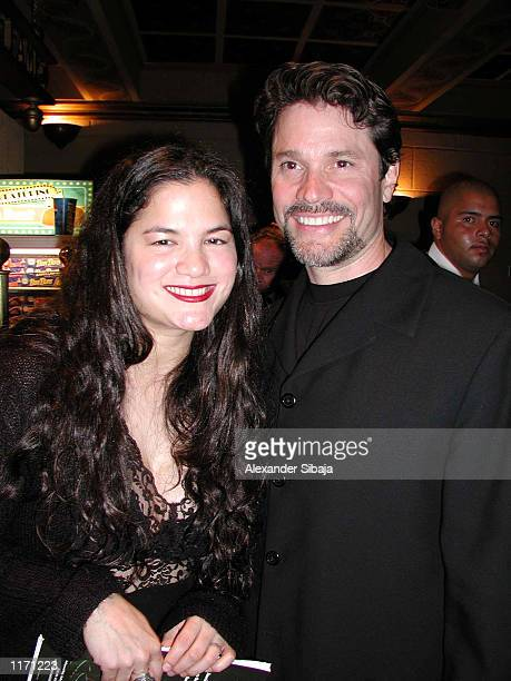 Actor Peter Reckell and wife Kelly Moneymaker attend the 7th Annual American Choreography Awards October 14 2001 at El Capitan Theatre in Hollywood CA