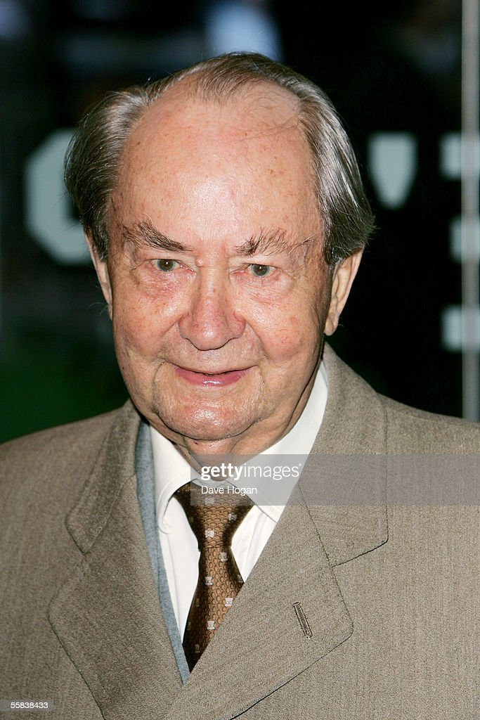 Actor Peter Sallis arrives at the UK Charity premiere of animated film 'Wallace & Gromit: The Curse Of The Were-Rabbit' at the Odeon West End on October 2, 2005 in London, England.