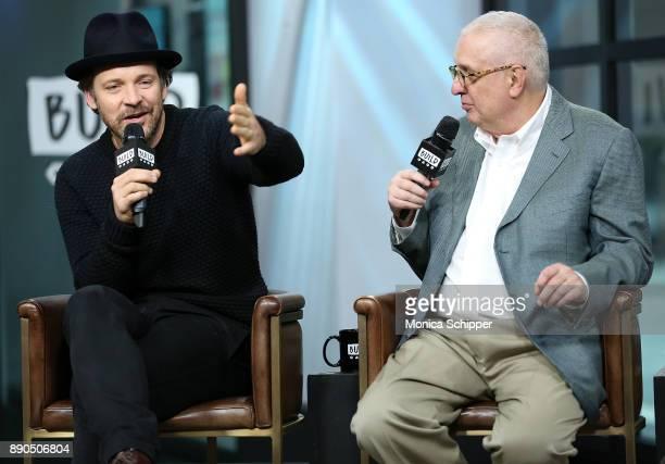 Actor Peter Sarsgaard and filmmaker Errol Morris discuss 'Wormwood' at Build Studio on December 11 2017 in New York City