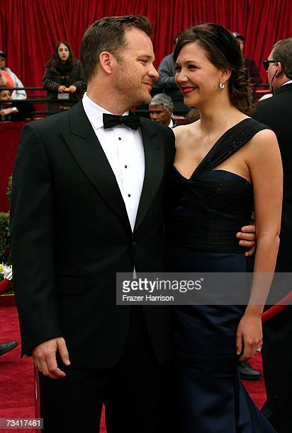 Actor Peter Sarsgaard and wife Maggie Gyllenhaal attend the 79th Annual Academy Awards held at the Kodak Theatre on February 25 2007 in Hollywood...