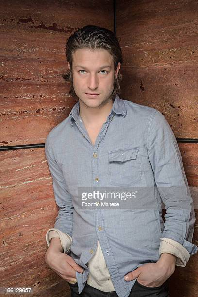 Actor Peter Scanavino is photographed for Self Assignment on February 10 2013 in Berlin Germany