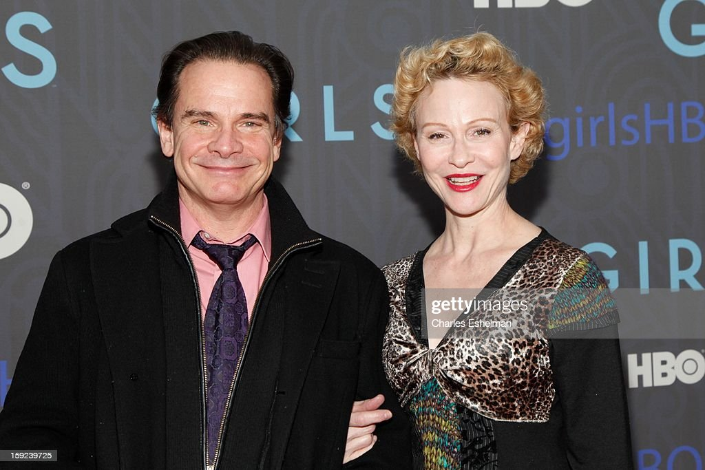 Actor Peter Scolari and guest attend HBO hosts the premiere of 'Girls' Season 2 at the NYU Skirball Center on January 9, 2013 in New York City.