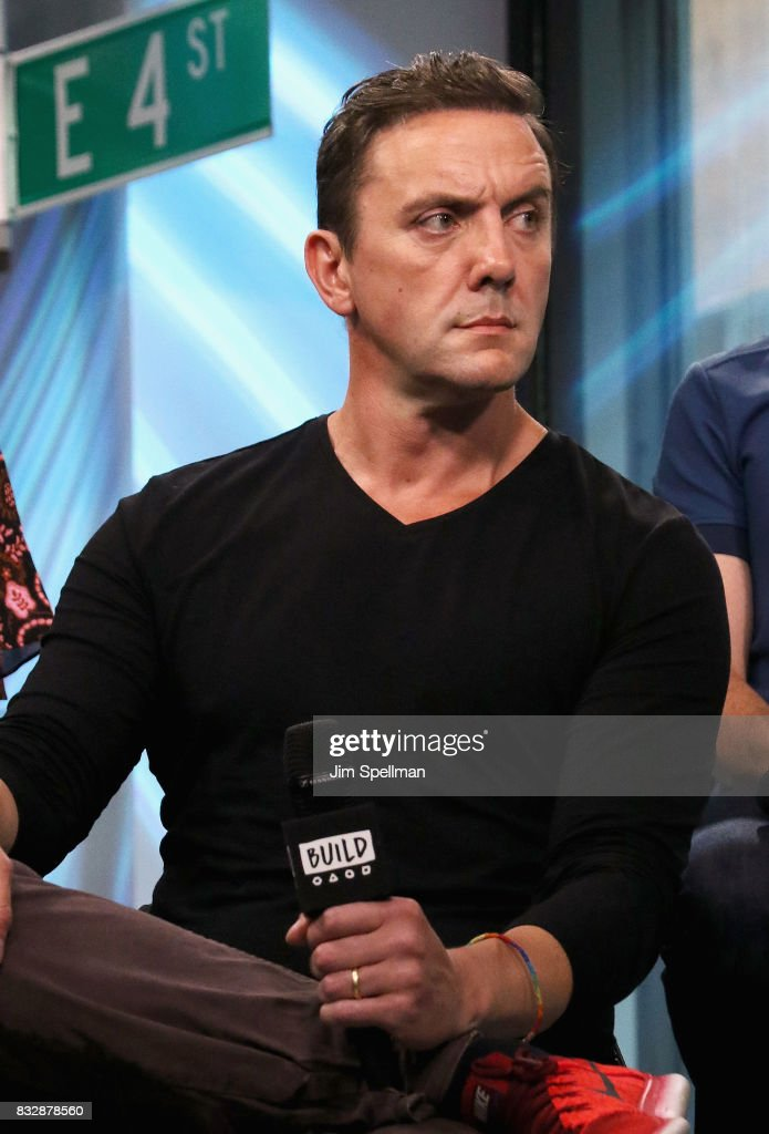 Actor Peter Serafinowicz attends Build to discuss 'The Tick' at Build Studio on August 16, 2017 in New York City.