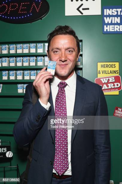 Actor Peter Serafinowicz attends the blue carpet premiere of Amazon Prime Video original series 'The Tick' at Village East Cinema on August 16 2017...