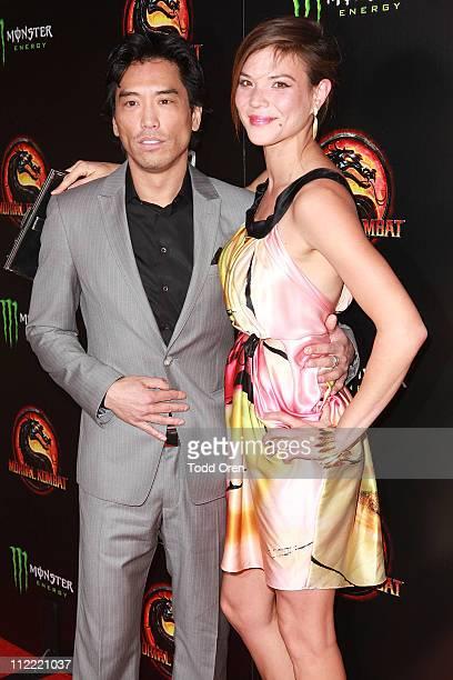 "Actor Peter Shinkoda and Actress Jeananne Goossen attend the ""Mortal Kombat Legacy"" digital series premiere celebration at Saint Felix II on April..."