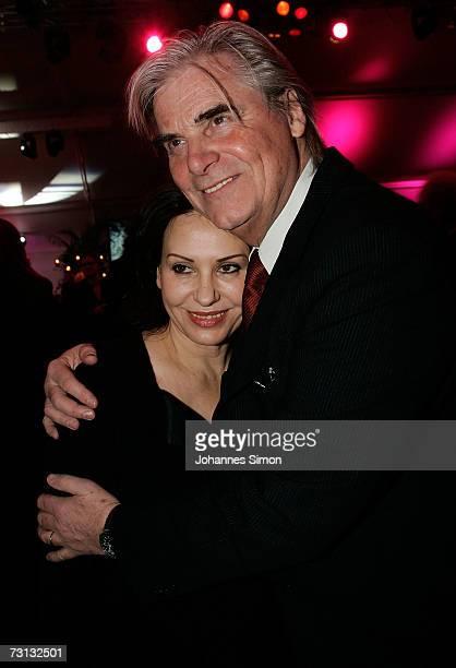 Actor Peter Simonischek and his wife Brigitte Karner attend the Kitzrace Party January 27 in Kitzbuehel Austria
