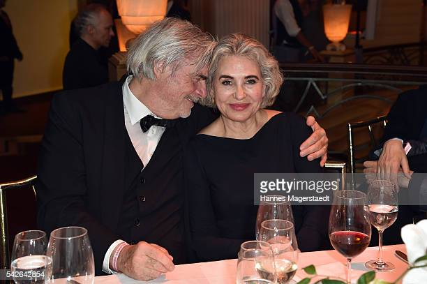 Actor Peter Simonischek and his wife Brigitte Karner during the opening night of the Munich Film Festival 2016 at Hotel Bayerischer Hof on June 23,...