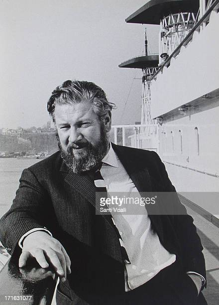 Actor Peter Ustinov on board of the Andrea Doria on November 11963 in New York New York