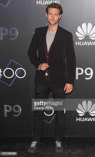 Actor Peter Vives attends HUAWEI P9 launch party at Circulo de Bellas Artes on April 19 2016 in Madrid Spain