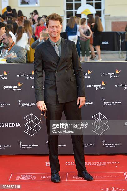 Actor Peter Vives attends Nuestros Amantes premiere at the Cervantes Teather during the 19th Malaga Film Festival on April 30 2016 in Malaga Spain