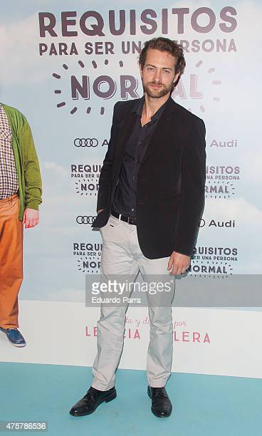 Actor Peter Vives attends 'Requisitos para ser una persona normal' premiere at Palafox cinema on June 3 2015 in Madrid Spain