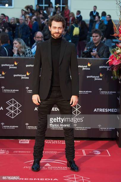 Actor Peter Vives attends the 20th Malaga Film Festival closing ceremony at the Cervantes Teather on March 25 2017 in Malaga Spain