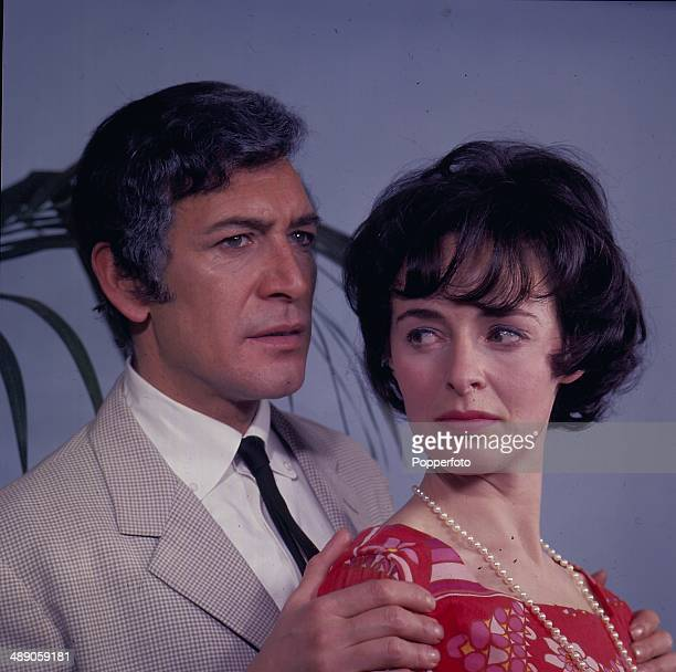 Actor Peter Wyngarde and actress Jeanette Sterke in a scene from the television play 'The Crossfire' in 1967