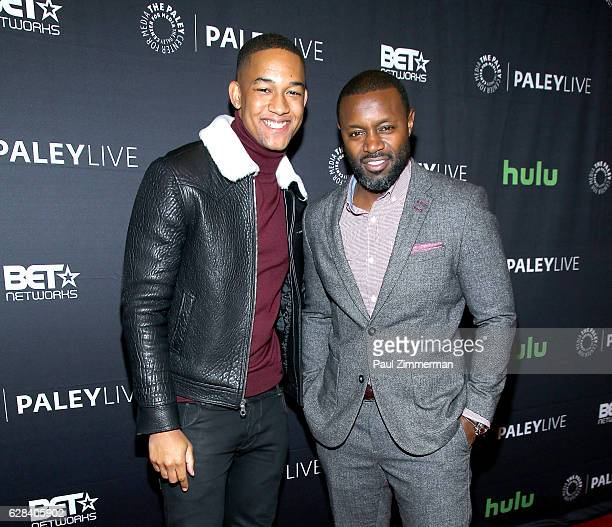 Actor Peyton Alex Smith and executive producer and director Rob Hardy attend BET's 'The Quad' Paley Center For Media World Premiere at The Paley...