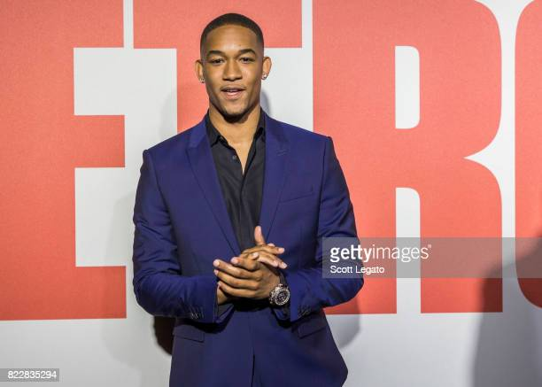 Actor Peyton 'Alex' Smith attends the 'Detroit' world premiere at Fox Theatre on July 25 2017 in Detroit Michigan