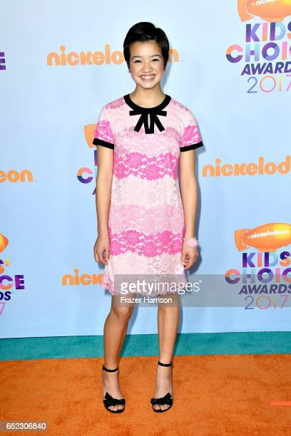 Actor Peyton Elizabeth Lee at Nickelodeon's 2017 Kids' Choice Awards at USC Galen Center on March 11 2017 in Los Angeles California