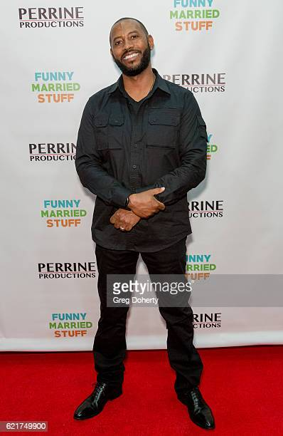 Actor Peyton Perrine arrives for the Screening Of Perrine Productions' 'Funny Married Stuff' at the ACME Comedy Theatre on November 7 2016 in Los...