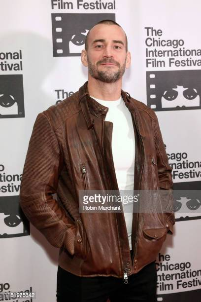 Actor Phil 'CM Punk' Brooks attends the red carpet Premiere of Girl on the Third Floor at the Chicago International Film Festival on October 18 2019...