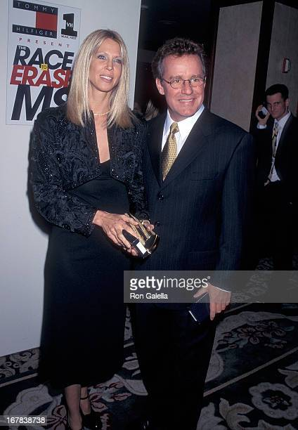 Actor Phil Hartman and wife Brynn attend the Fifth Annual Race to Erase MS Gala to Benefit the Nancy Davis Foundation on November 14 1997 at the...