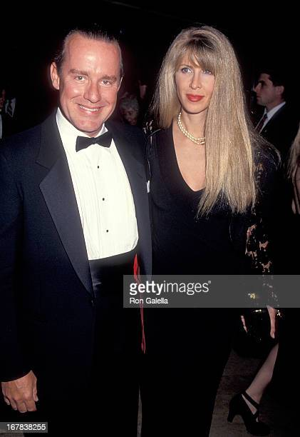 Actor Phil Hartman and wife Brynn attend the First Annual Comedy Hall of Fame Induction Ceremoy on August 29 1993 at the Beverly Hilton Hotel in...