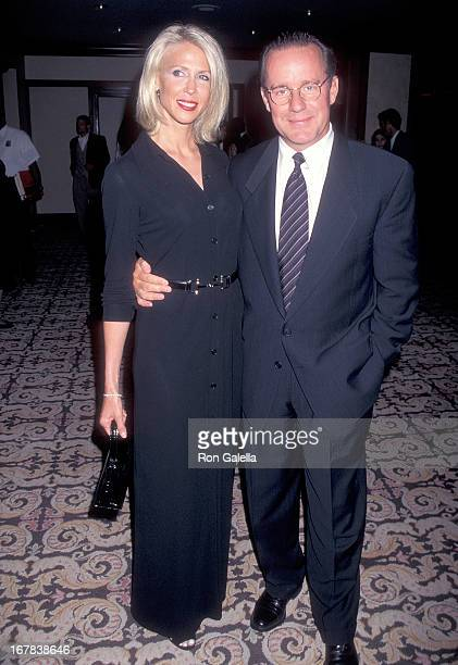 Actor Phil Hartman and wife Brynn attend the Fourth Annual Race to Erase MS Gala to Benefit the Nancy Davis Foundation on June 1 1996 at the Century...