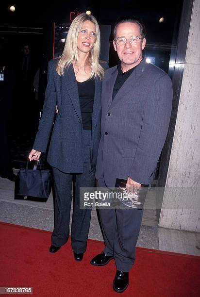 Actor Phil Hartman and wife Brynn attend the Screening of the HBO Miniseries From the Earth to the Moon on March 31 1998 at the Cineplex Odeon...