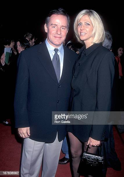 Actor Phil Hartman and wife Brynn attend the Sgt Bilko Universal City Premiere on March 27 1996 at the Cineplex Odeon Universal City Cinemas in...