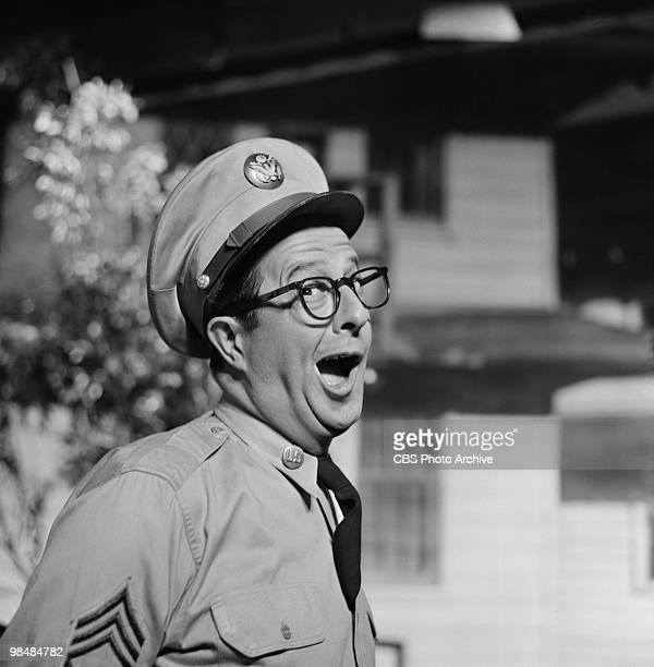 Actor Phil Silvers as Sgt Ernest G Bilko on 'The Phil Silvers Show' on October 19 1955 in New York City New York