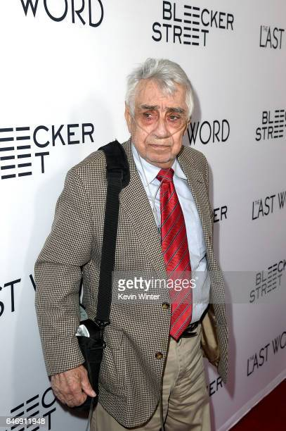 Actor Philip Baker Hall at the premiere of Bleecker Street Media's The Last Word at ArcLight Hollywood on March 1 2017 in Hollywood California