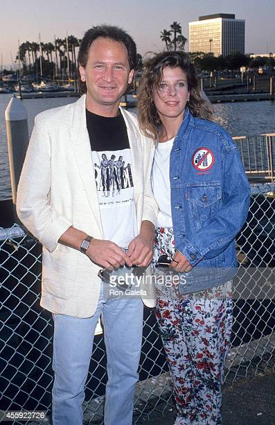 Actor Philip Charles Mackenzie and actress Alison LaPlaca attend the FOX Television Affiliates Party on July 11 1989 at the RitzCarlton Hotel in...