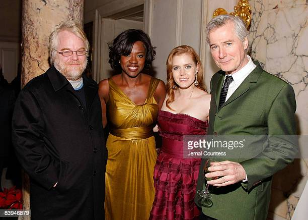 Actor Philip Seymour Hoffman Actress Viola Davis Actress Amy Adams and Director John Patrick Shanley attend the premiere after party for 'Doubt' at...