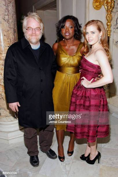Actor Philip Seymour Hoffman Actress Viola Davis and Actress Amy Adams attend the premiere after party for 'Doubt' at The Metropolitan Club on...