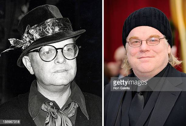 In this composite image a comparison has been made between Truman Capote and Actor Philip Seymour Hoffman Oscar hype begins this week with the...