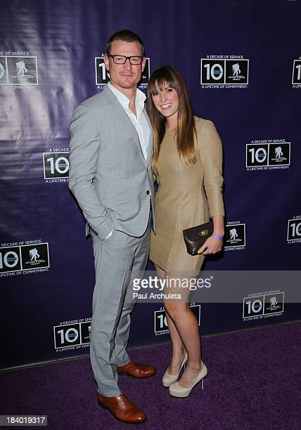Actor Philip Winchester and his wife Megan Marie Coughlin attend the Wounded Warrior Project's Carry Forward Awards at Club Nokia on October 10 2013...