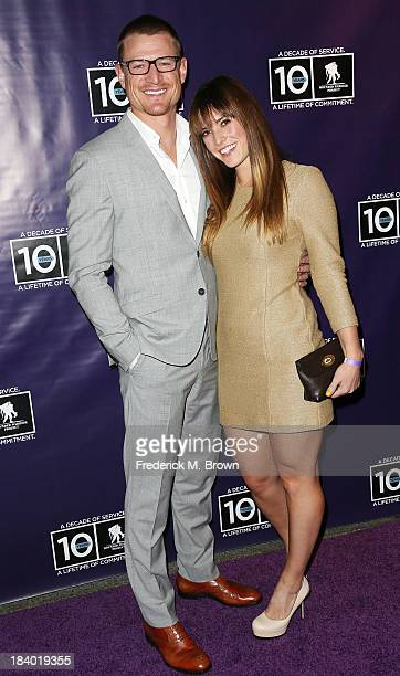 Actor Philip Winchester and Megan Marie Coughlin attend The Wounded Warrier Project's Carry Forward Awards at Club Nokia on October 10 2013 in Los...