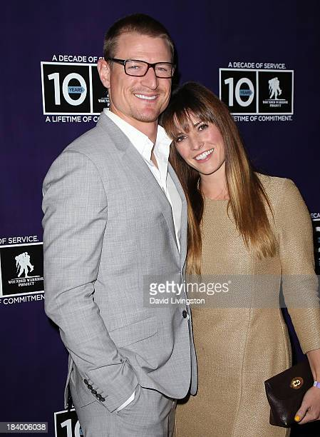 Actor Philip Winchester and wife Megan Marie Coughlin attend the Wounded Warrior Project's Carry Forward Awards at Club Nokia on October 10 2013 in...