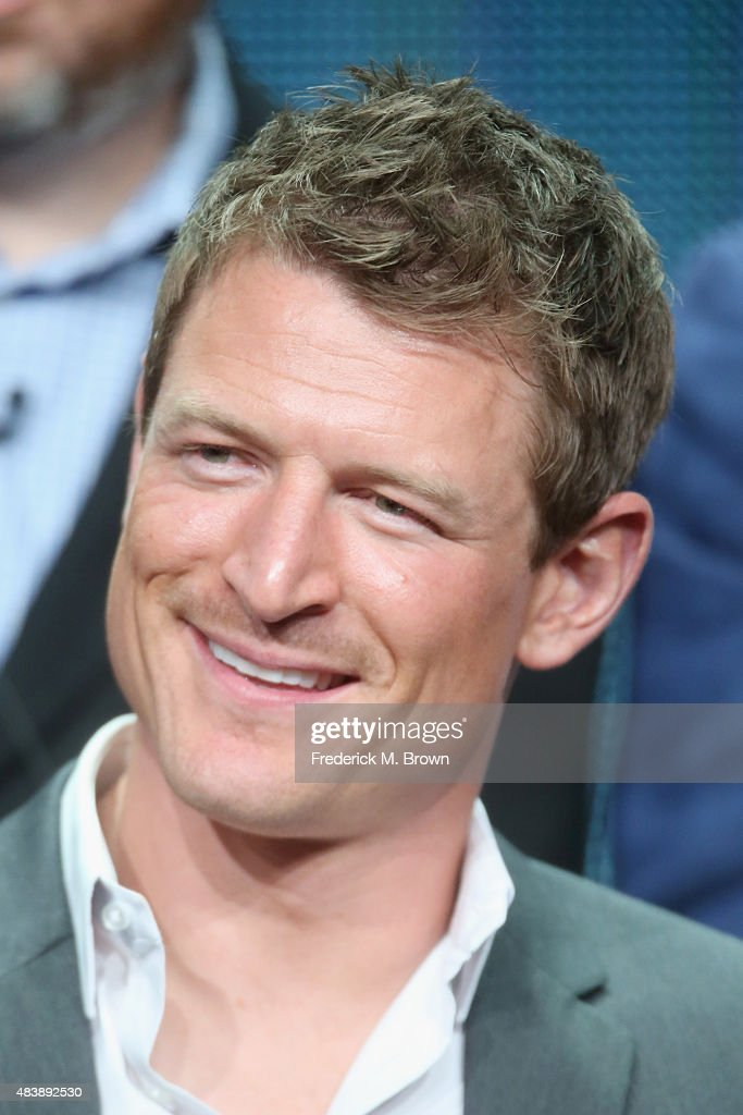 Actor Philip Winchester speaks onstage during NBC's 'The Player' panel discussion at the NBCUniversal portion of the 2015 Summer TCA Tour at The Beverly Hilton Hotel on August 13, 2015 in Beverly Hills, California.