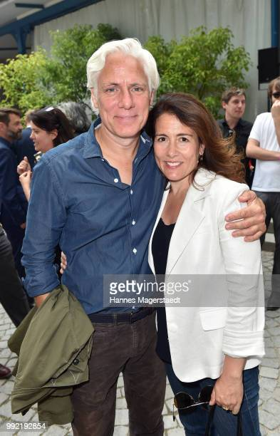 Actor Philipp Brenninkmeyer and his wife Tara Lynn Orr attend the FFF reception during the Munich Film Festival 2018 at Praterinsel on July 5 2018 in...