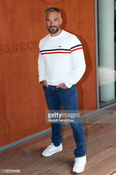Actor Philippe Bas attends the 2019 French Tennis Open - Day Three at Roland Garros on May 28, 2019 in Paris, France.